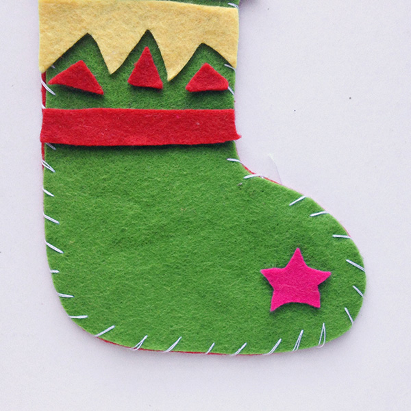 Felt Christmas stocking craft for school