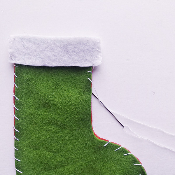 Felt stocking craft for school