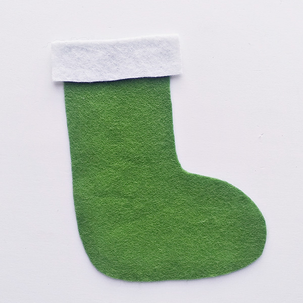 Felt Christmas stocking craft for school aged children