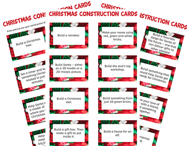 Lego construction cards