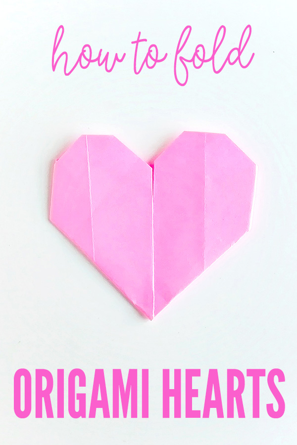 How to fold paper origami hearts
