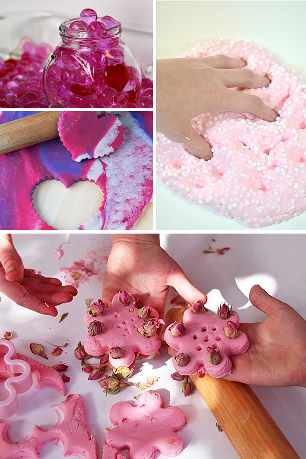 Valentines sensory play ideas