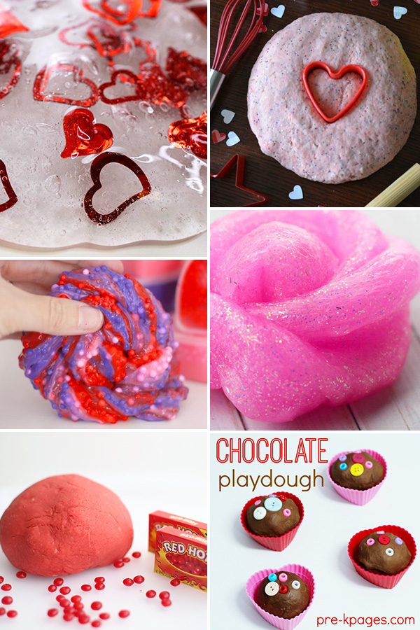 Valentines themed sensory play ideas