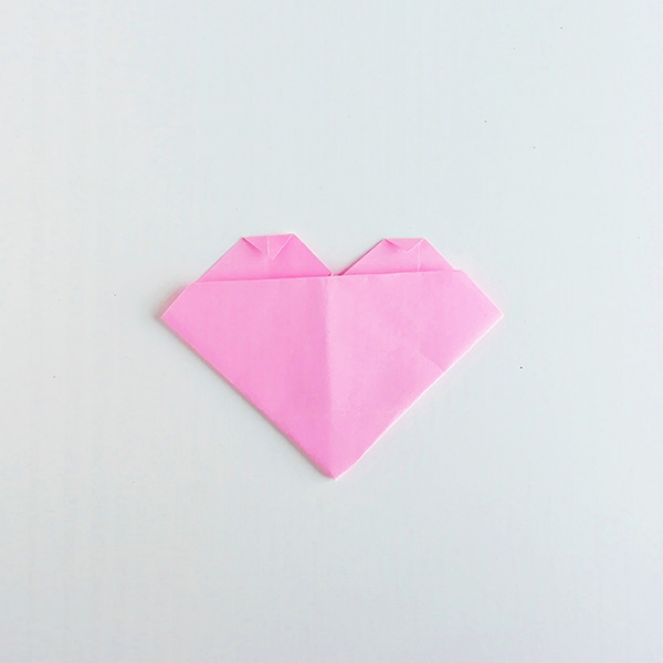 how to fold paper heart