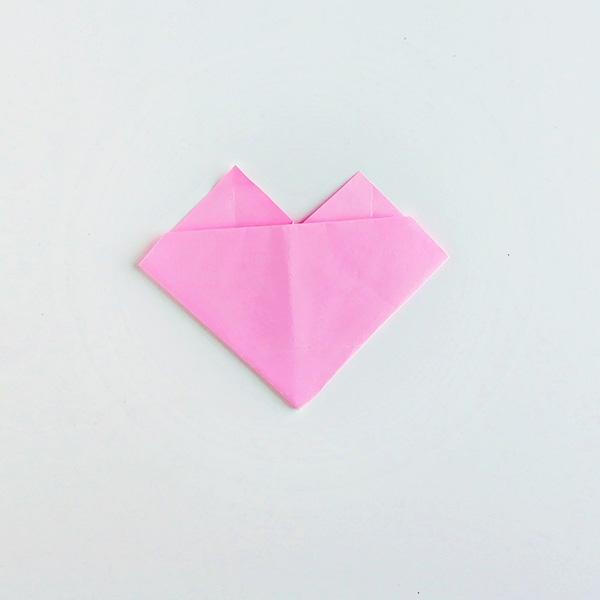 Origami heart folding instructions