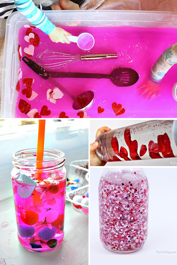 Valentines inspired sensory play