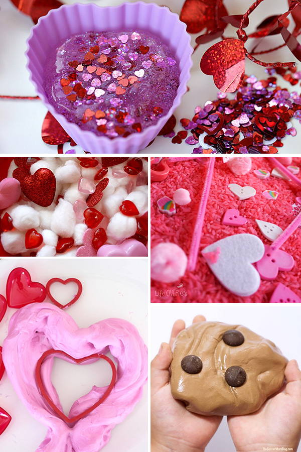 Valentines themed sensory play