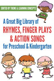 Children's rhymes, fingerplays and action songs: Great collection of themed songs