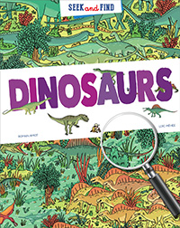 Seek and Find Dinosaurs Book