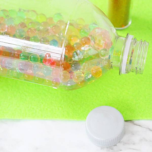 Sensory bottle with water beads