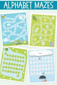 Alphabet mazes learning game
