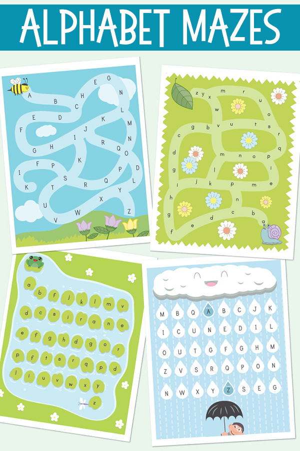 Printable Alphabet Mazes Games For Alphabet Learning