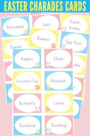 Easter Charades cards