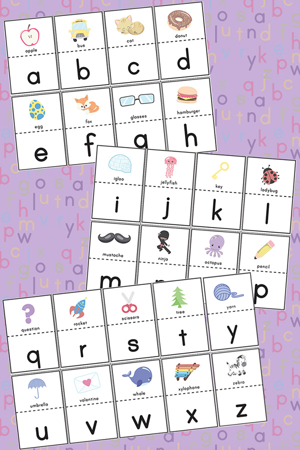 Free alphabet matching puzzles