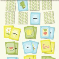 Garden matching game printable