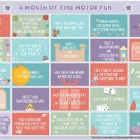 Fine Motor Activity Calendar