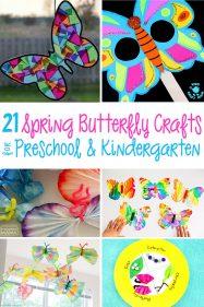 21 Butterfly Crafts and Activities for Preschool and Kindergarten