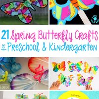 21 Butterfly Crafts and Activities for Preschool and Kindergarten