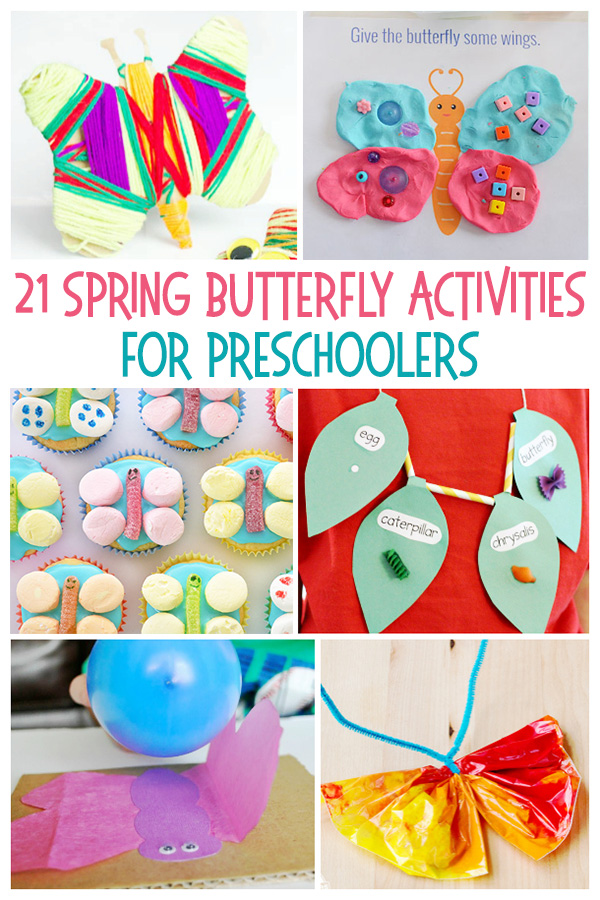 21 Spring Butterfly Crafts and Activities for Preschool and Kindergarten