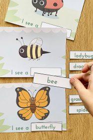 Emergent reader literacy activity