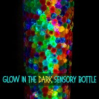 How to make a glow in the dark sensory bottle