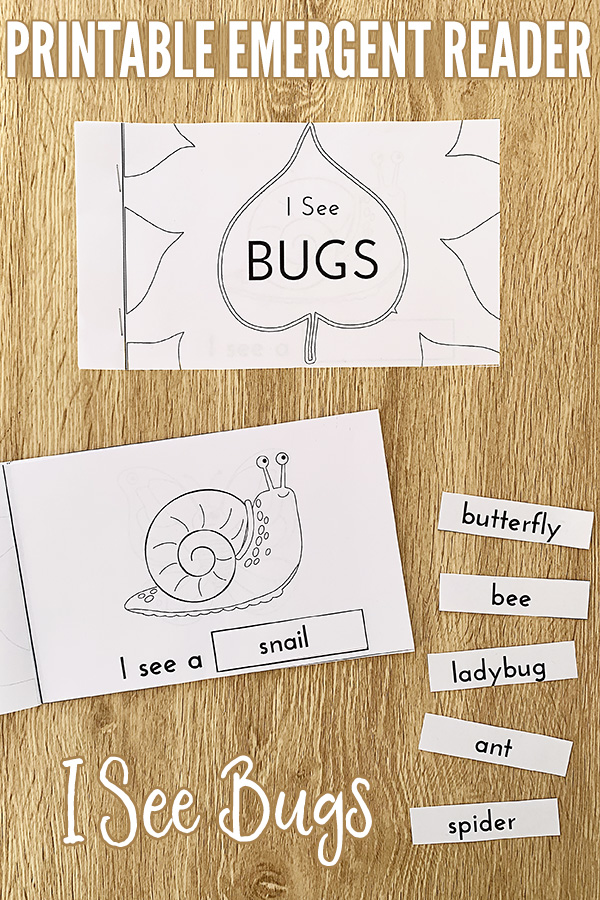 I See Bugs Printable Emergent Sight Words Reader