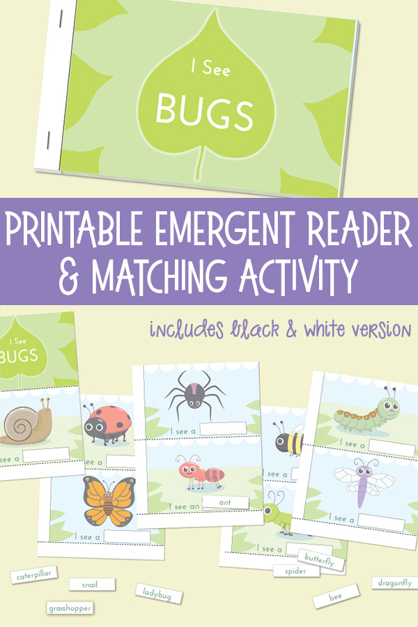 Printable Emergent Reader I See Bugs