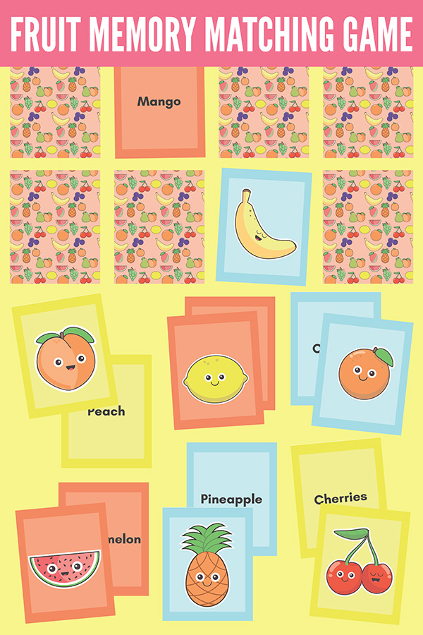 Fruit Memory Matching Concentration Game