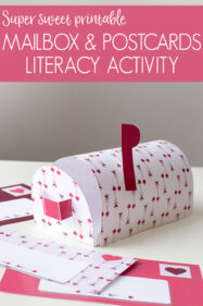 Printable Mailbox and Postcard Writing Activity for Preschool and Kindergarten