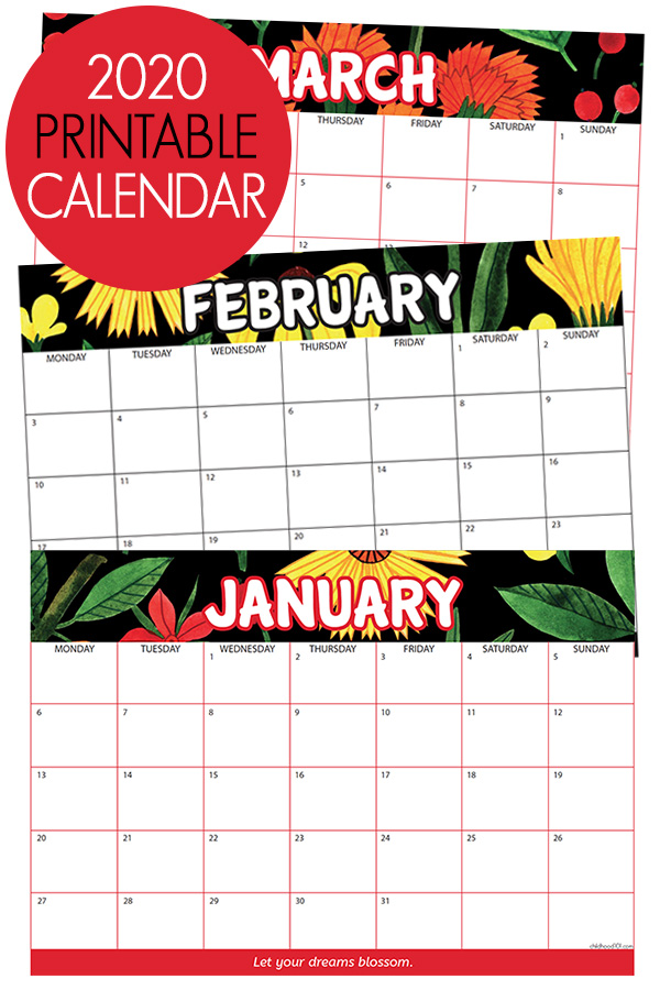 photo regarding Calendar for Printable identify 2020 Calendar Free of charge Printable. Purchase Well prepared for a Amazing 2020!