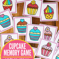 Visual discrimination game: Cupcake memory matching