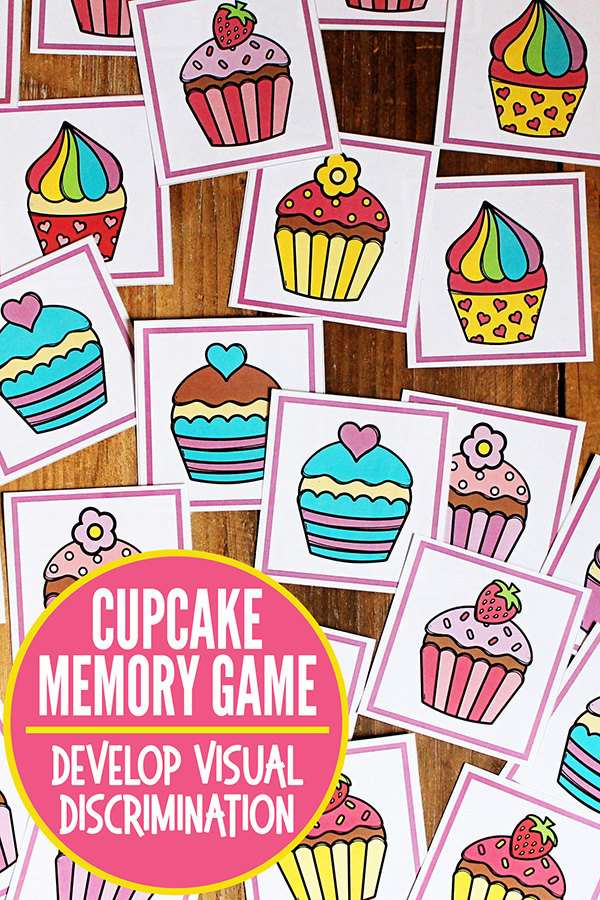 image regarding Make Your Own Matching Game Printable named Visible Discrimination Online games: Cupcake Memory Matching Match