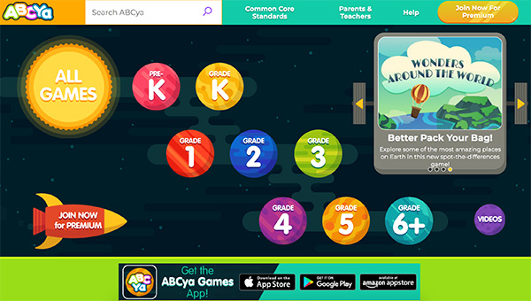 ABCYa Reading Skills Website App