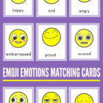 Emoji emotions matching cards