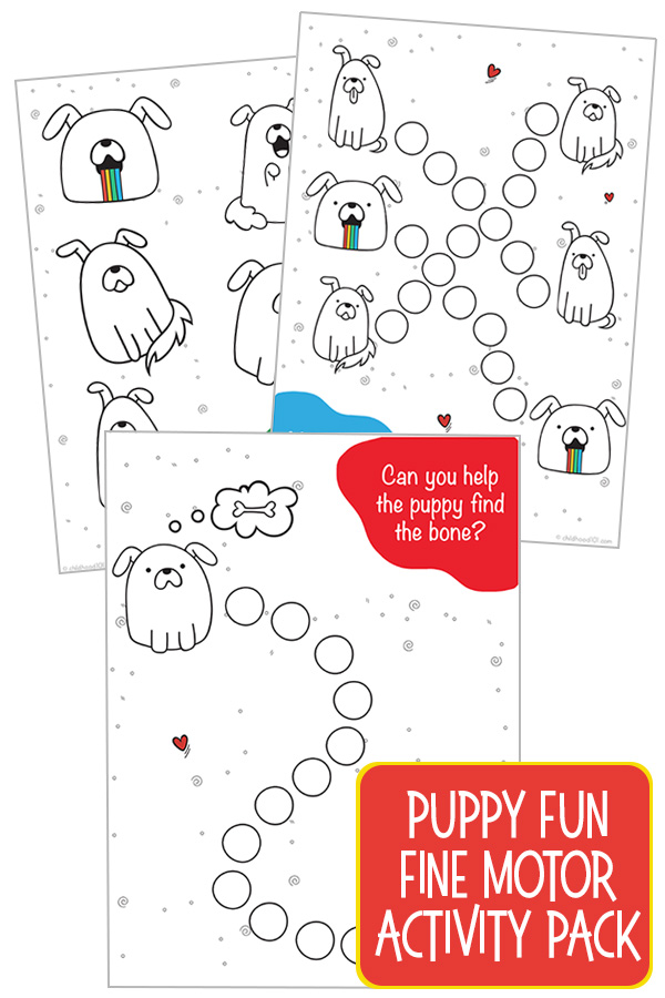 Fine motor activity pack - Puppy Fun