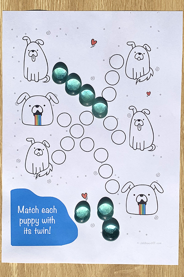 Fine motor activities puppies pack