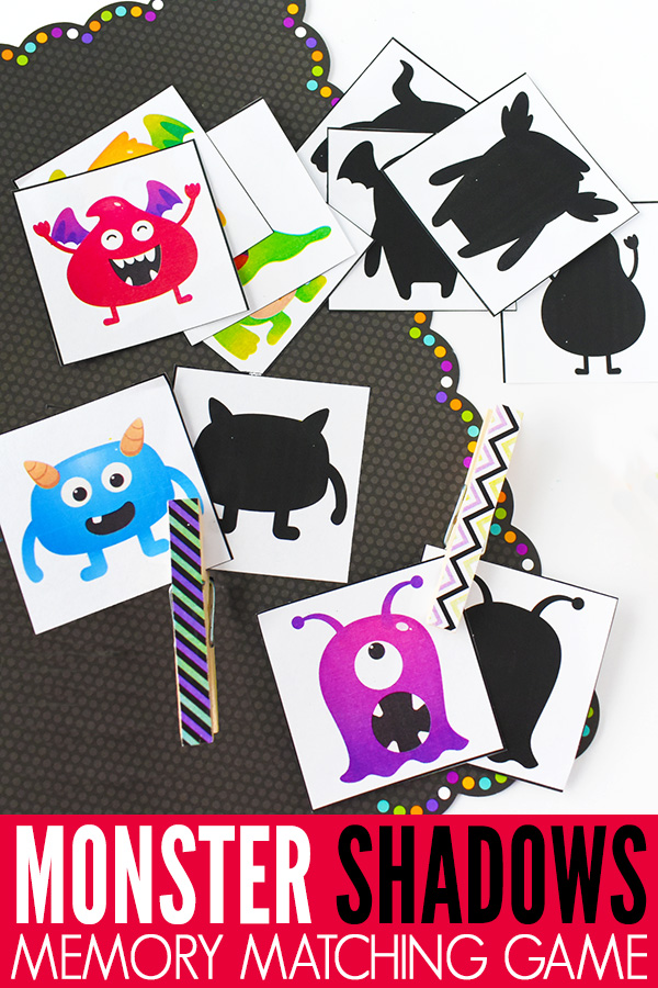 Monster Shadows Memory Matching Game