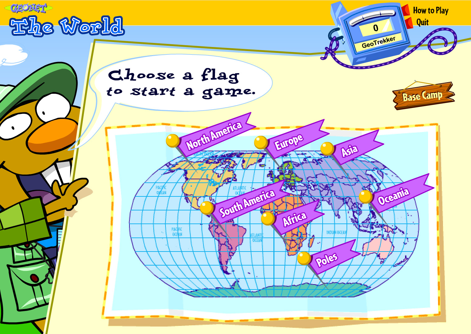 Online geography games for kids