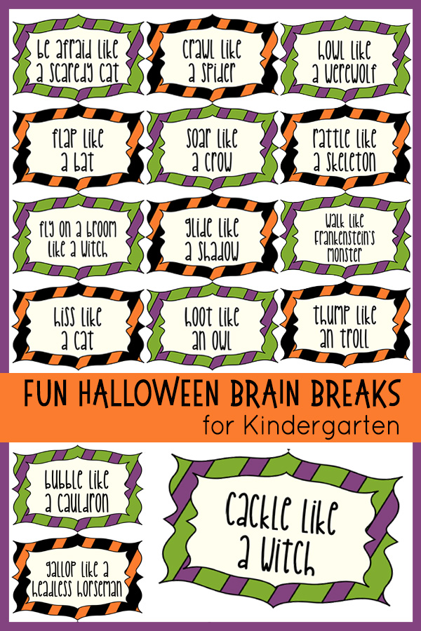 Halloween Brain Breaks for Kindergarten