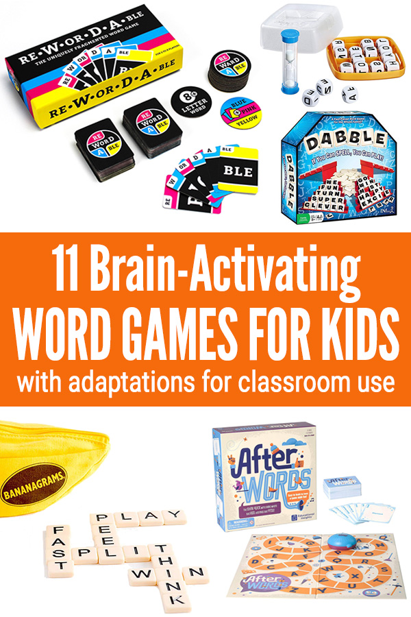 Kids word games for home and school