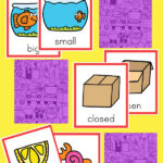 Opposites memory matching vocabulary game