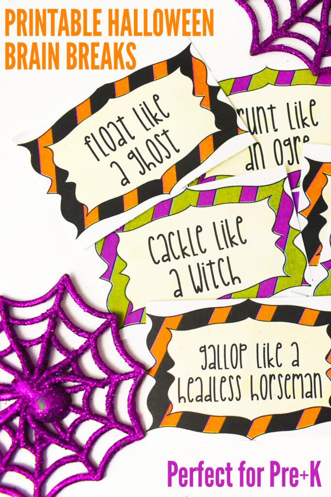 Printable Halloween Brain Breaks