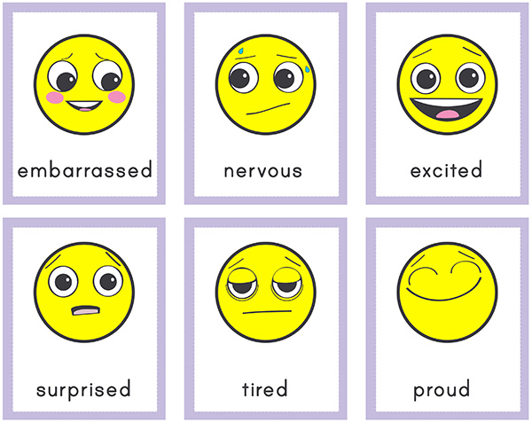 graphic regarding Emoji Feelings Printable named Emoji Inner thoughts Matching Playing cards for Researching Thoughts Thoughts