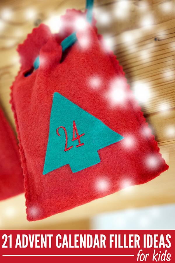 Advent Calendar Filler Ideas for Kids