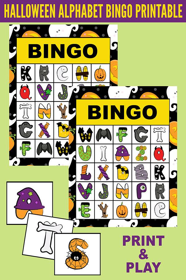 Printable Halloween Alphabet Bingo Game