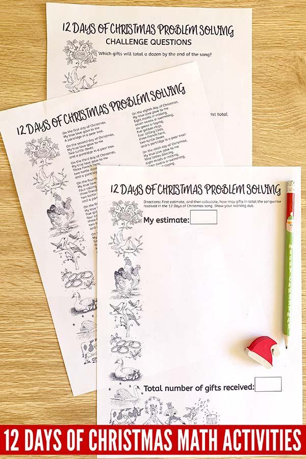 Christmas Math Activities: Problem