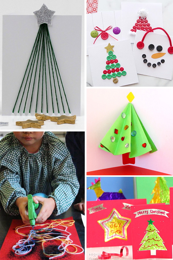 25 Diy Christmas Cards Crafts For Kids To Make Preschool School Age