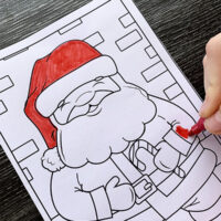 Free printable Christmas colouring cards for kids