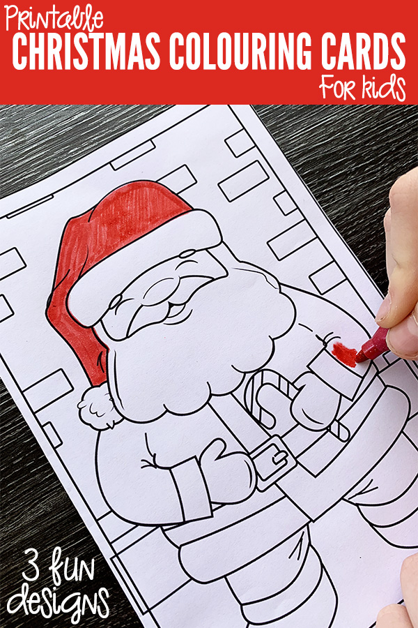 Free Printable Christmas Colouring Cards For Kids Childhood 101