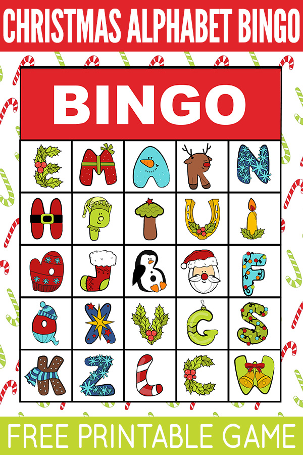 Christmas Alphabet Bingo Game
